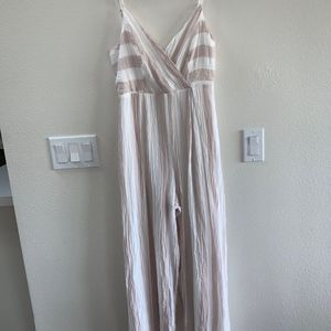 june&hudson Striped Jumpsuit Size M
